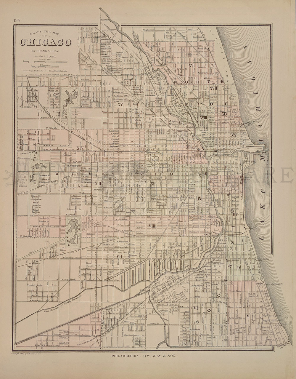 3rd Ward Chicago Map.Prints Old Rare Chicago Illinois Antique Maps Prints
