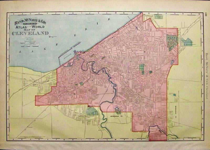 Antique Ohio Map.Prints Old Rare Cleveland Ohio Antique Maps Prints