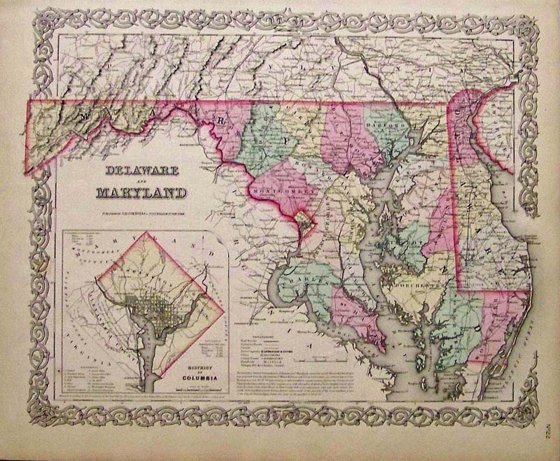 Prints Old & Rare - Delaware - Antique Maps & Prints
