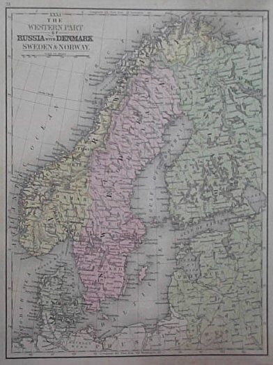Prints Old & Rare - Denmark - Antique Maps & Prints on 1860 map of liberia, 1860 map of mexico, 1860 map of upper silesia, 1860 map of czechoslovakia,