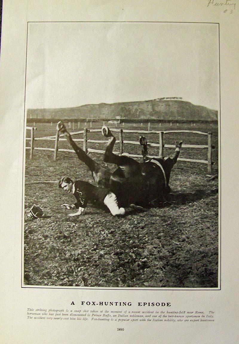Prints Old & Rare - Fox Hunting- Antique Maps & Prints