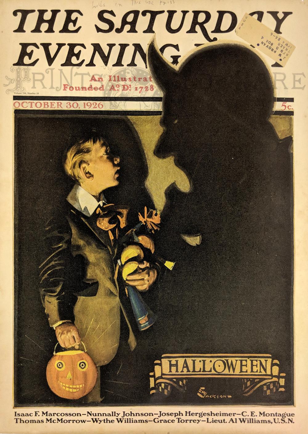 prints old & rare - halloween - antique maps & prints