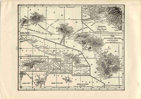 Prints Old Rare Hawaii Antique Maps Prints