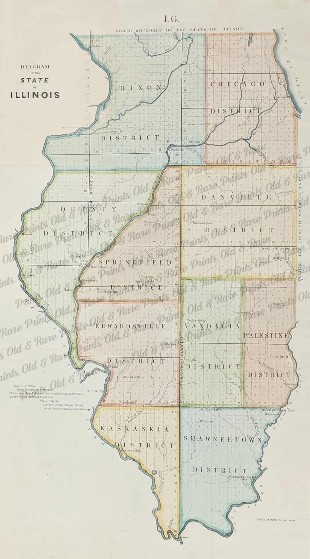 Prints Old & Rare - Illinois - Antique Maps & Prints on
