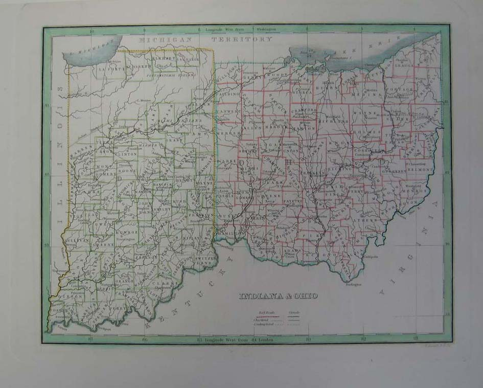 Prints Old & Rare - Indiana - Antique Maps & Prints on