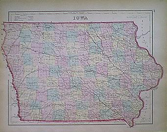 Old Iowa Map.Prints Old Rare Iowa Antique Maps Prints