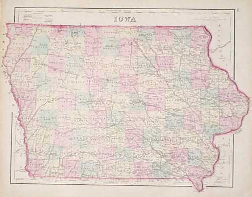Prints Old Rare Iowa Antique Maps Prints