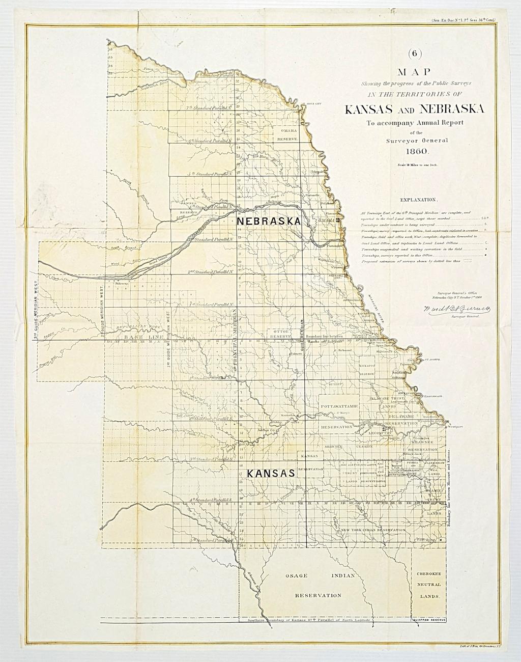 Old Kansas Map.Prints Old Rare Kansas Antique Maps Prints