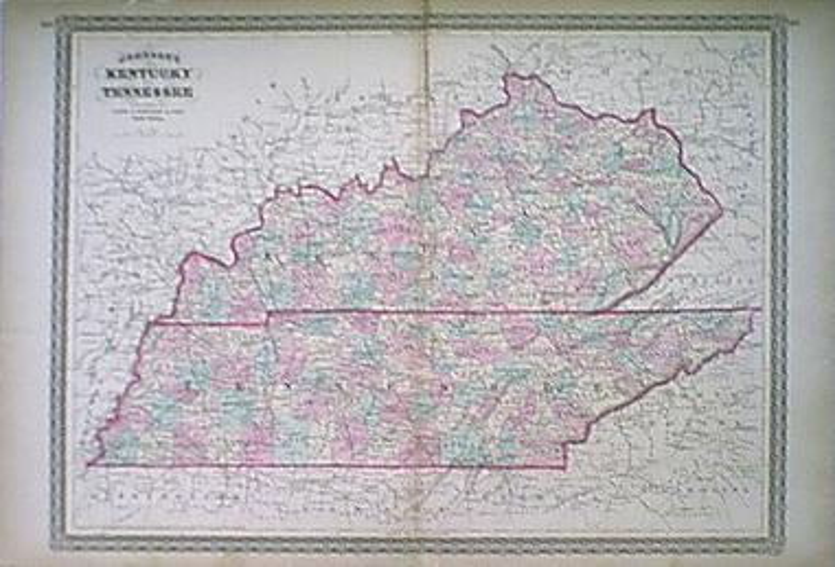 Prints Old & Rare - Kentucky - Antique Maps & Prints