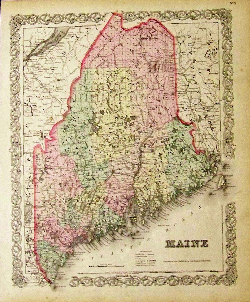 Prints Old Rare Maine Antique Maps Prints - Antique map of maine