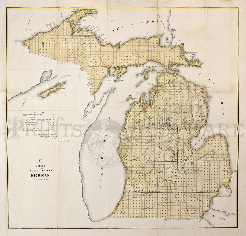 Prints Old & Rare - Michigan - Antique Maps & Prints