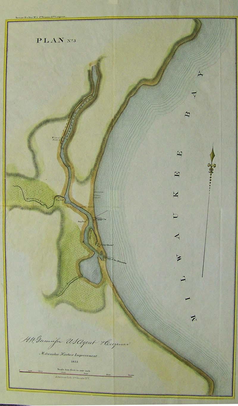 Prints Old Rare Milwaukee WI Antique Maps Prints - Vintage milwaukee map