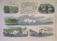 1862 Civil War Battle Vicksburg Mississippi This Hand Colored Wood Engraved Print Is From The July 26 Issue Of Harpers Weekly