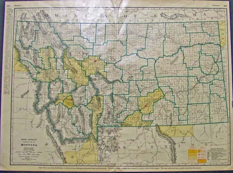 Prints Old Rare Montana Antique Maps Prints