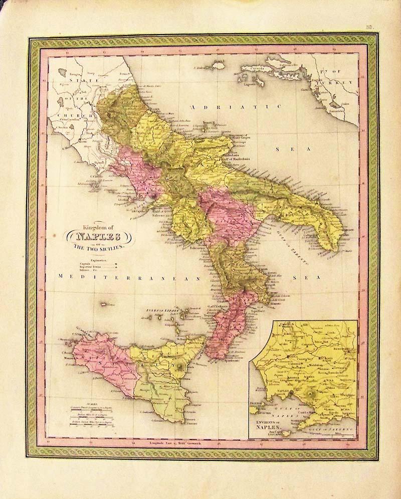 Prints Old & Rare - Naples Italy - Antique Maps & Prints