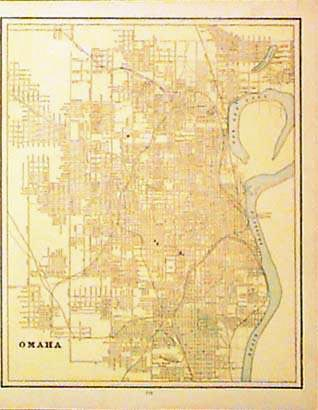 1900 omaha map by cram litho color names all streets 12 x 14 in 25