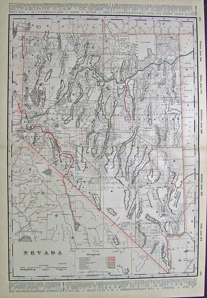 Prints Old & Rare - Nevada - Antique Maps & Prints