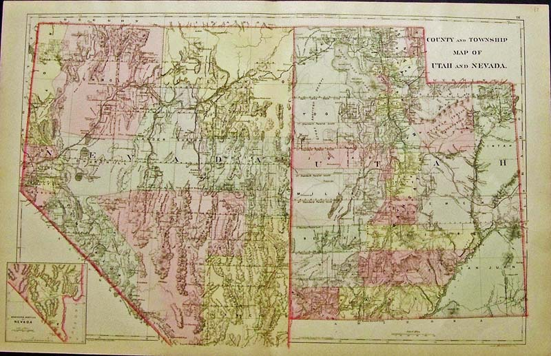Prints Old & Rare - Nevada - Antique Maps & Prints