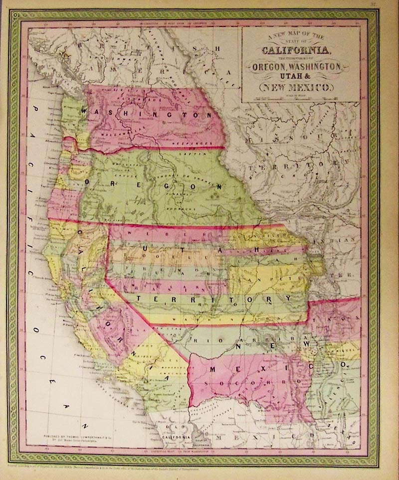 Prints Old Rare New Mexico Antique Maps Prints - Rare old maps for sale