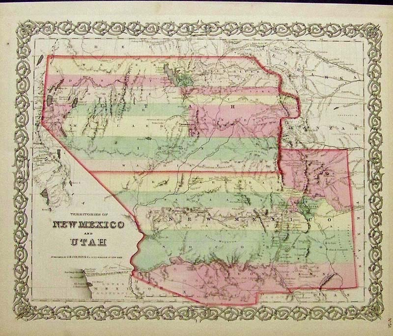 Prints Old Rare New Mexico Antique Maps Prints