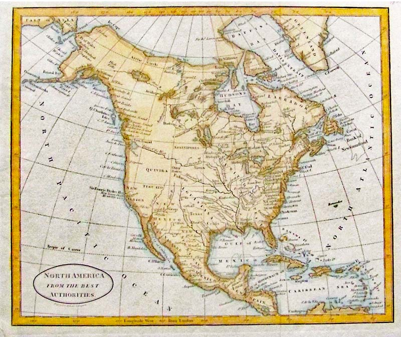 Map Of America In 1800.Prints Old Rare North America Antique Maps Prints