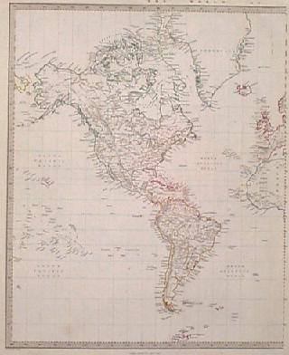 Prints old rare north america page 029nam 1853 north and south america map countries outlined in color names major cities and rivers very attractive old antique map 14x17 in 130 gumiabroncs Choice Image