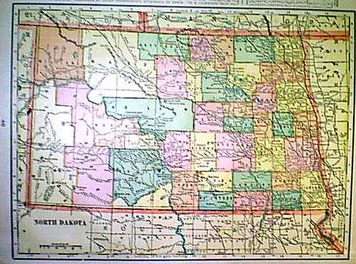 Prints Old & Rare - North Dakota - Antique Maps & Prints