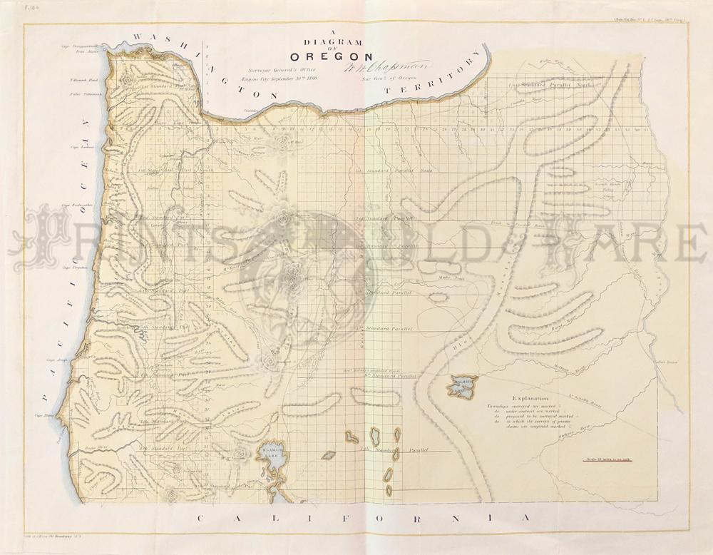 Prints Old & Rare - Oregon - Antique Maps & Prints