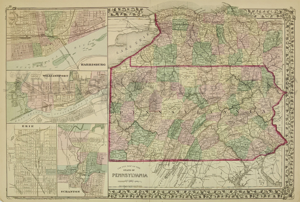 Prints Old & Rare - Pennsylvania - Antique Maps & Prints