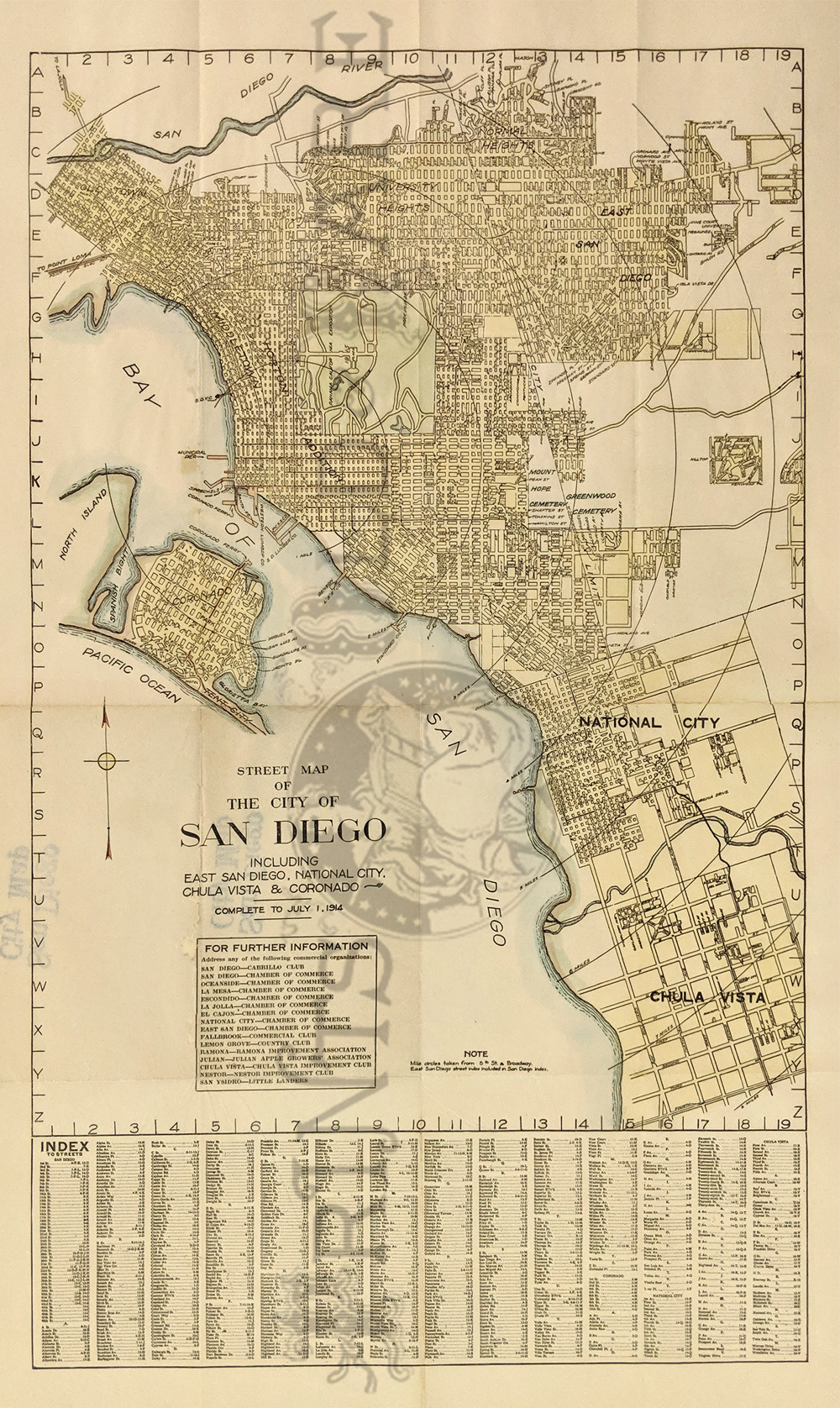 Prints Old Rare San Diego Palm Springs Ca Antique Maps Prints