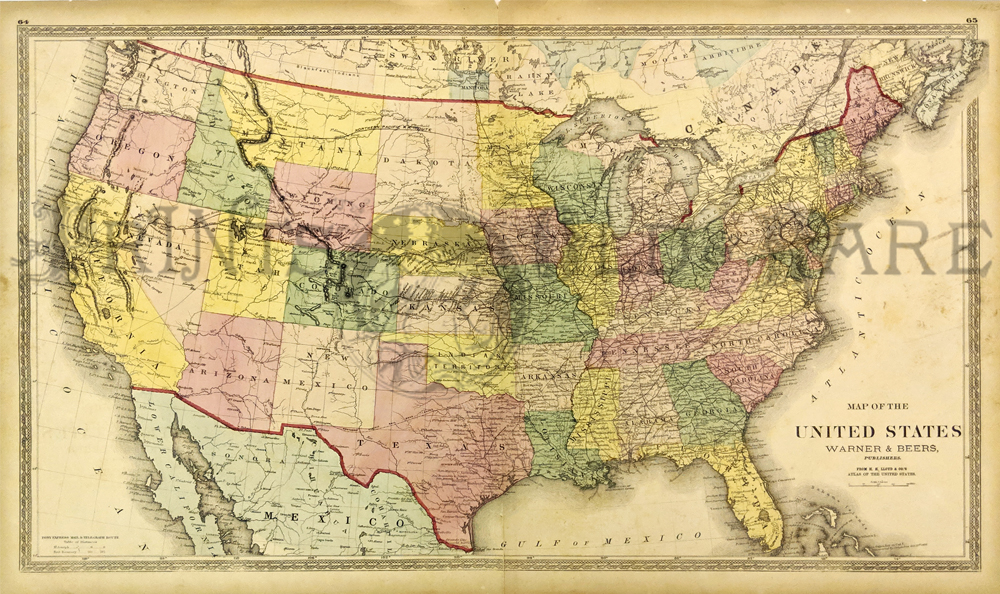 Prints Old Rare United States Of America Antique Maps Prints - Dc-comics-us-map