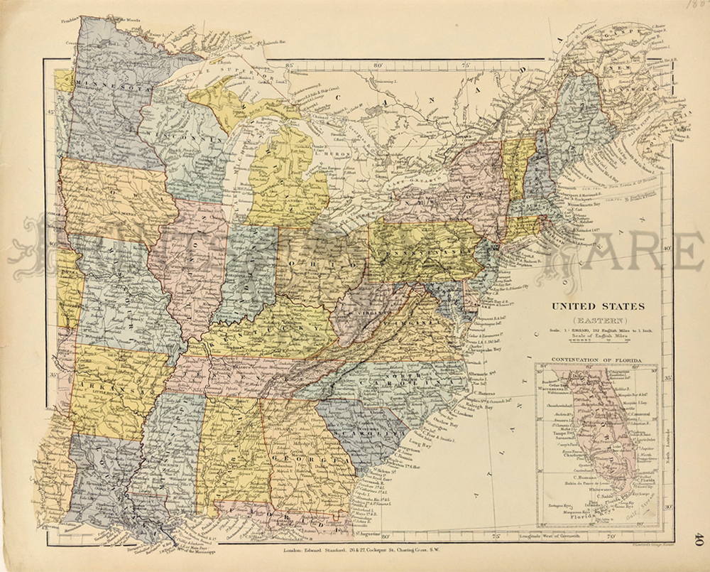 Far West Missouri Map.Prints Old Rare United States Of America Antique Maps Prints