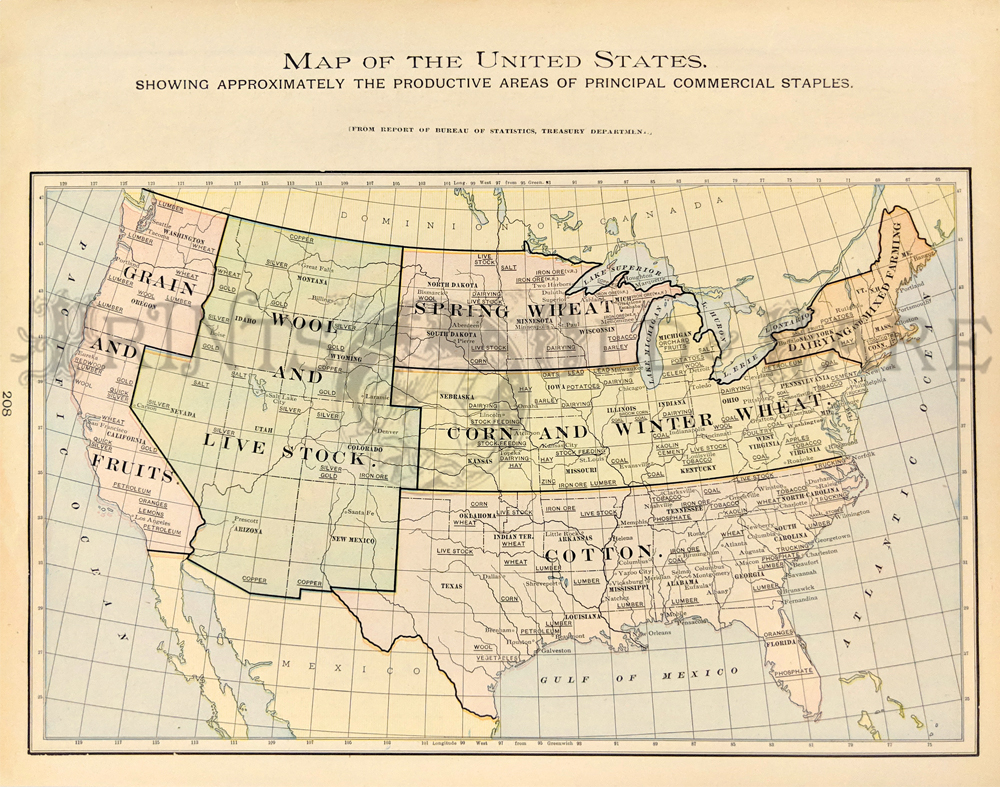 Prints Old Rare United States Of America Antique Maps Prints - Pacific-ocean-on-us-map