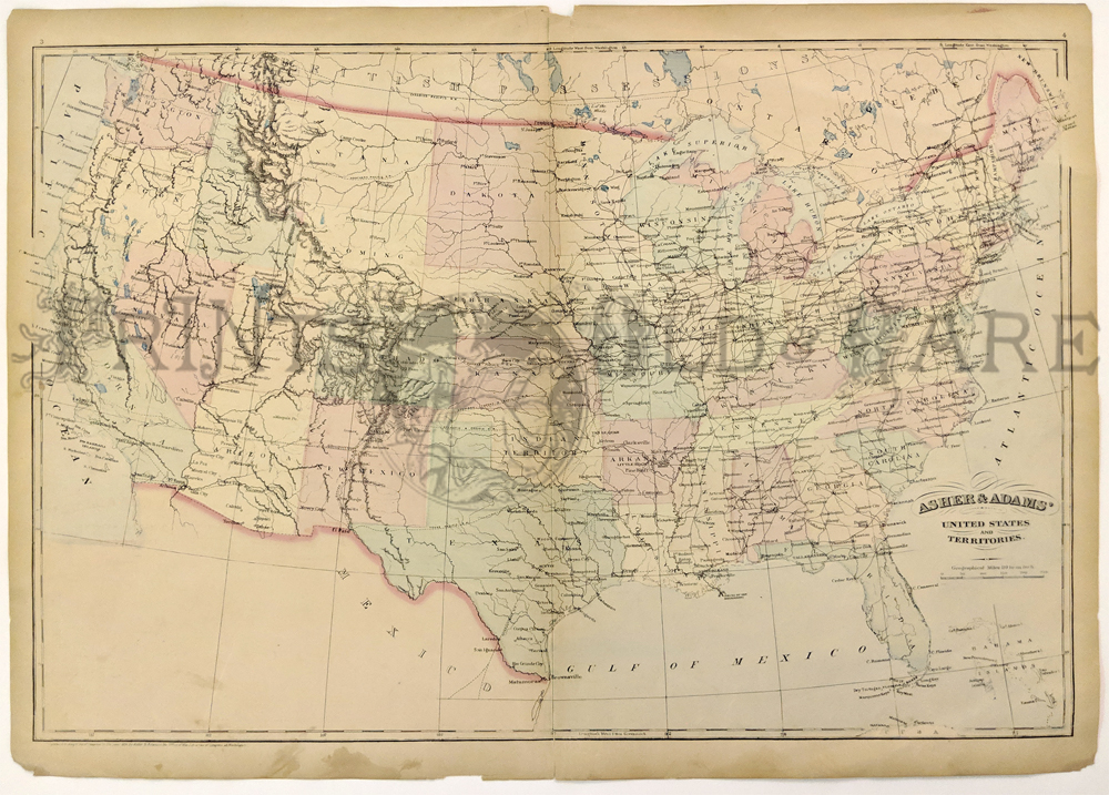 Prints Old & Rare - United States of America - Antique Maps & Prints