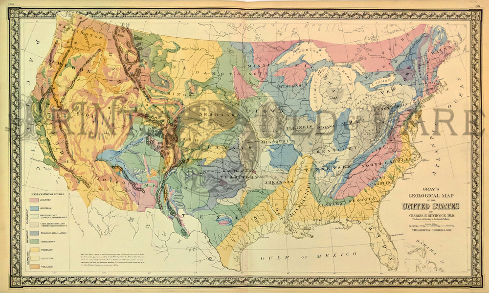 Prints Old & Rare - United States of America - Antique Maps ... on