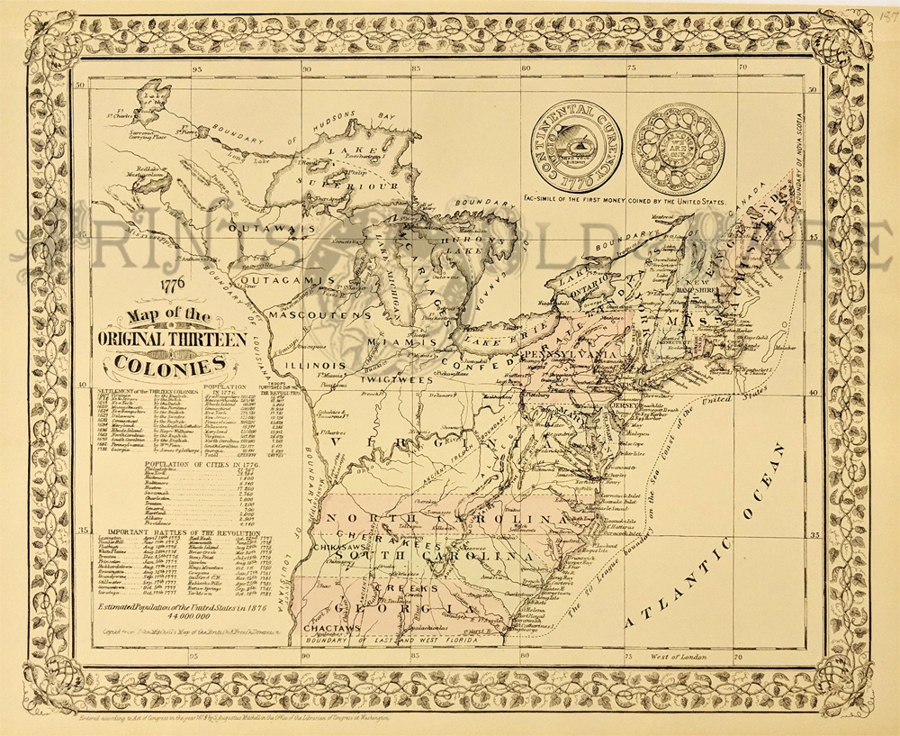 Prints Old & Rare - United States of America - Antique Maps ...