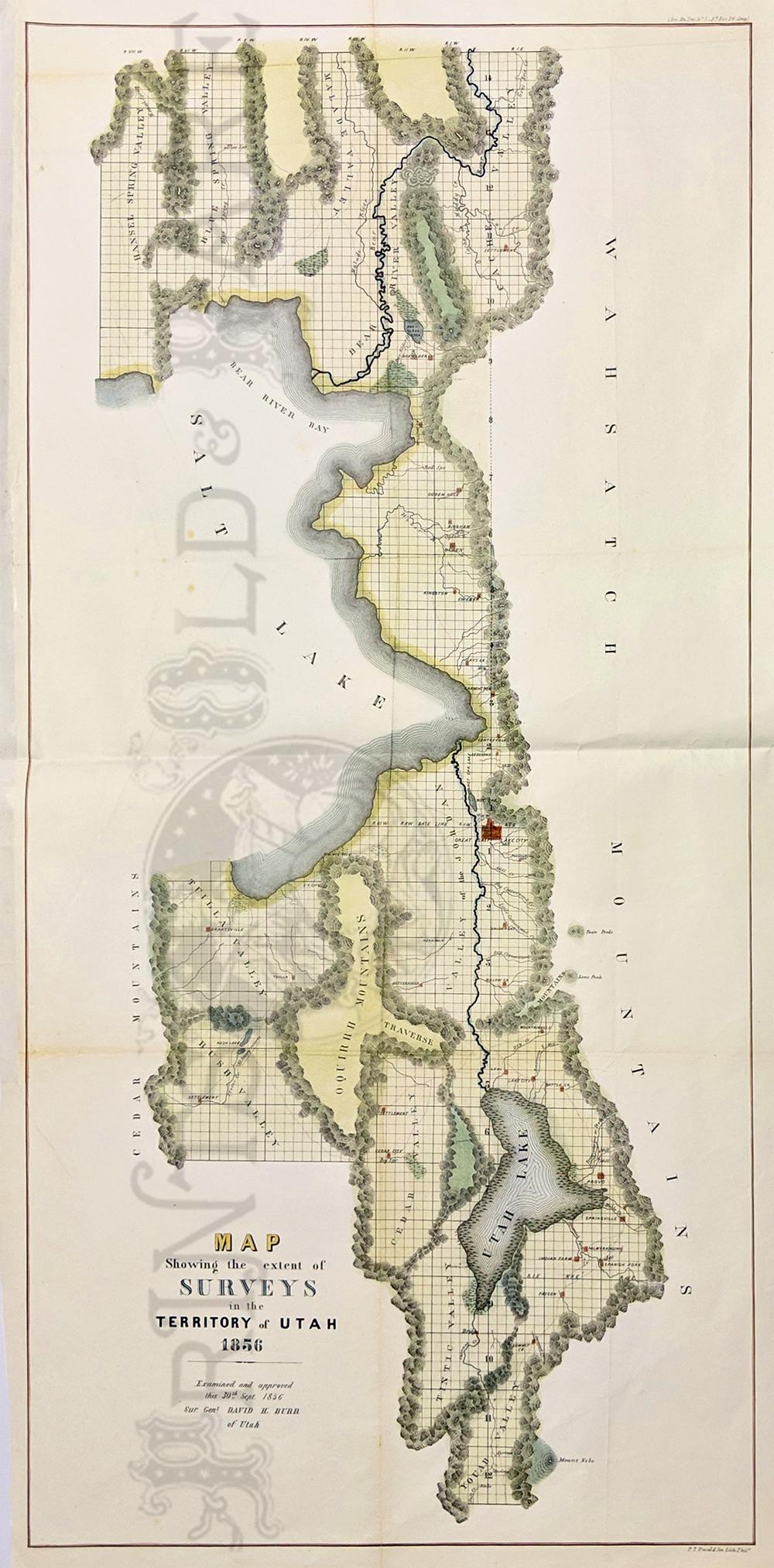 Paradise Utah Map.Prints Old Rare Utah Antique Maps Prints