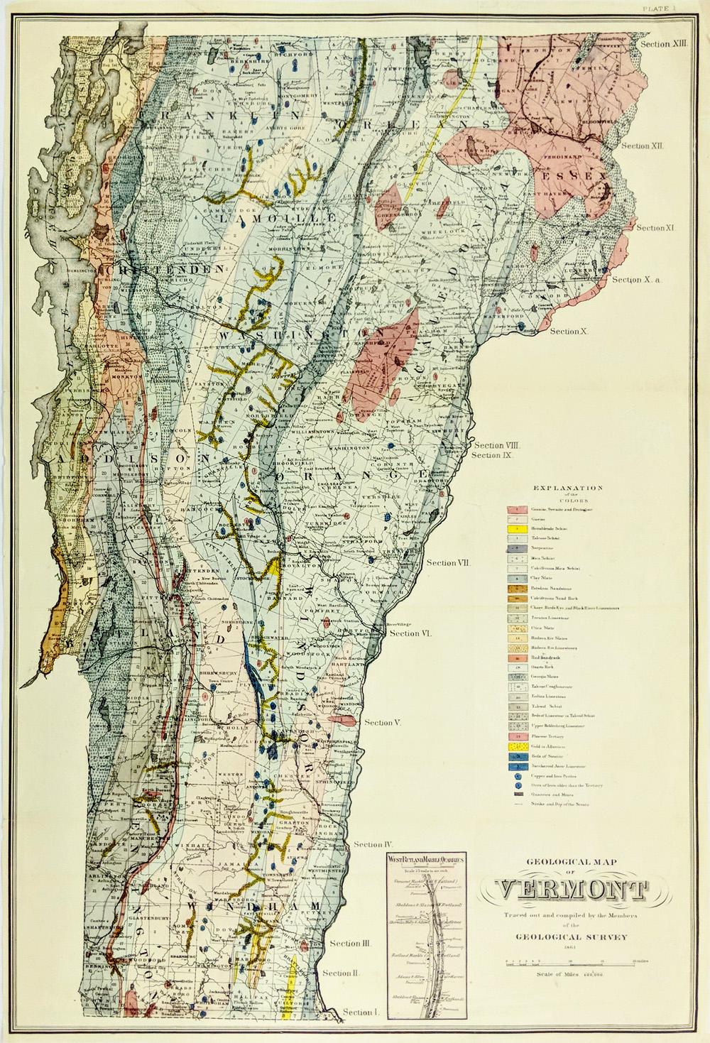Prints Old & Rare - Vermont - Antique Maps & Prints