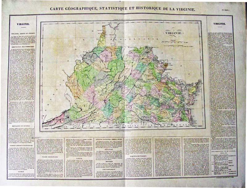 Prints Old Rare Virginia Antique Maps Prints