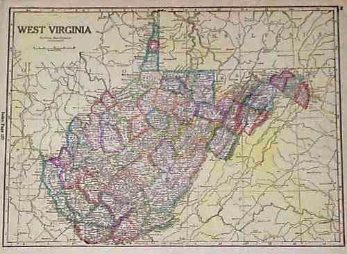 Prints Old Rare West Virginia Antique Maps Prints