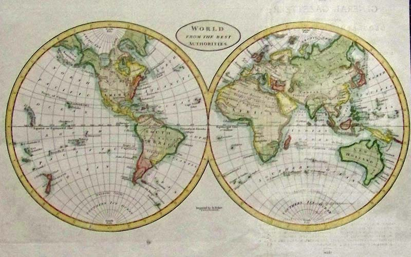 1800 Map Of The World.Prints Old Rare World Maps Antique Maps Prints